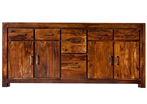 MASSIVMOEBEL24.DE Palisander Massivmöbel Holz massiv Life Honey Sideboard Massivholz Sheesham lackiert Möbel Metro Life #134