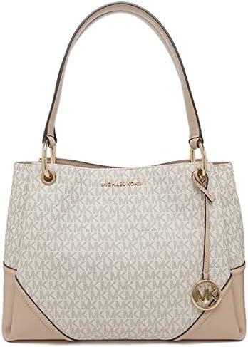 Michael Kors Women s Nicole Large Shoulder Bag Tote Purse Handbag Vanilla Multi product image