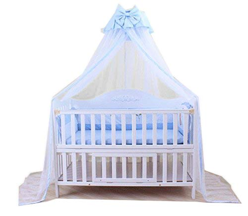 Baby Mosquito Net Baby Toddler Bed Crib Dome Canopy Netting (Butterfly Blue)