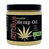 GreenIVe - Hemp Hot Cream 2,000mg - Soothing Moisturizing Hemp Hot Cream - Exclusively on Amazon (2,000mg 8 Ounce)