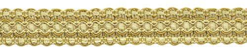 Lavish 25mm Wide Coin Gold, Gold, Antique Gold Gimp Braid Trim|Style# 0100VG|Color: Gold - VNT4|Sold by the Yard (91cm / 3 Ft / 36\