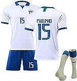FDSEW Niños Adultos Camiseta del Equipo de Brasil, Copa de Europa 2019 Neymarr No.10 Coutinho No.11 visitante Hombres Mujeres Ropa de fútbol Personalizada 28 white15