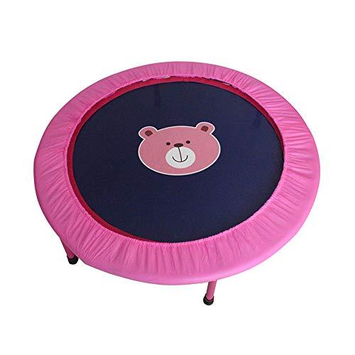 Lzww Trampoline, Exercise Toys Children's Cartoon Trampoline Folding Storage, Gift,Pink,50inch