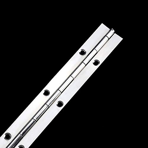 304 Stainless Steel Piano Hinge Long Row Hinge Marine Piano Hinge, Length: About 12 inches; Width: 1.2 inches, Thickness: About 0.047 inches (one Piece)