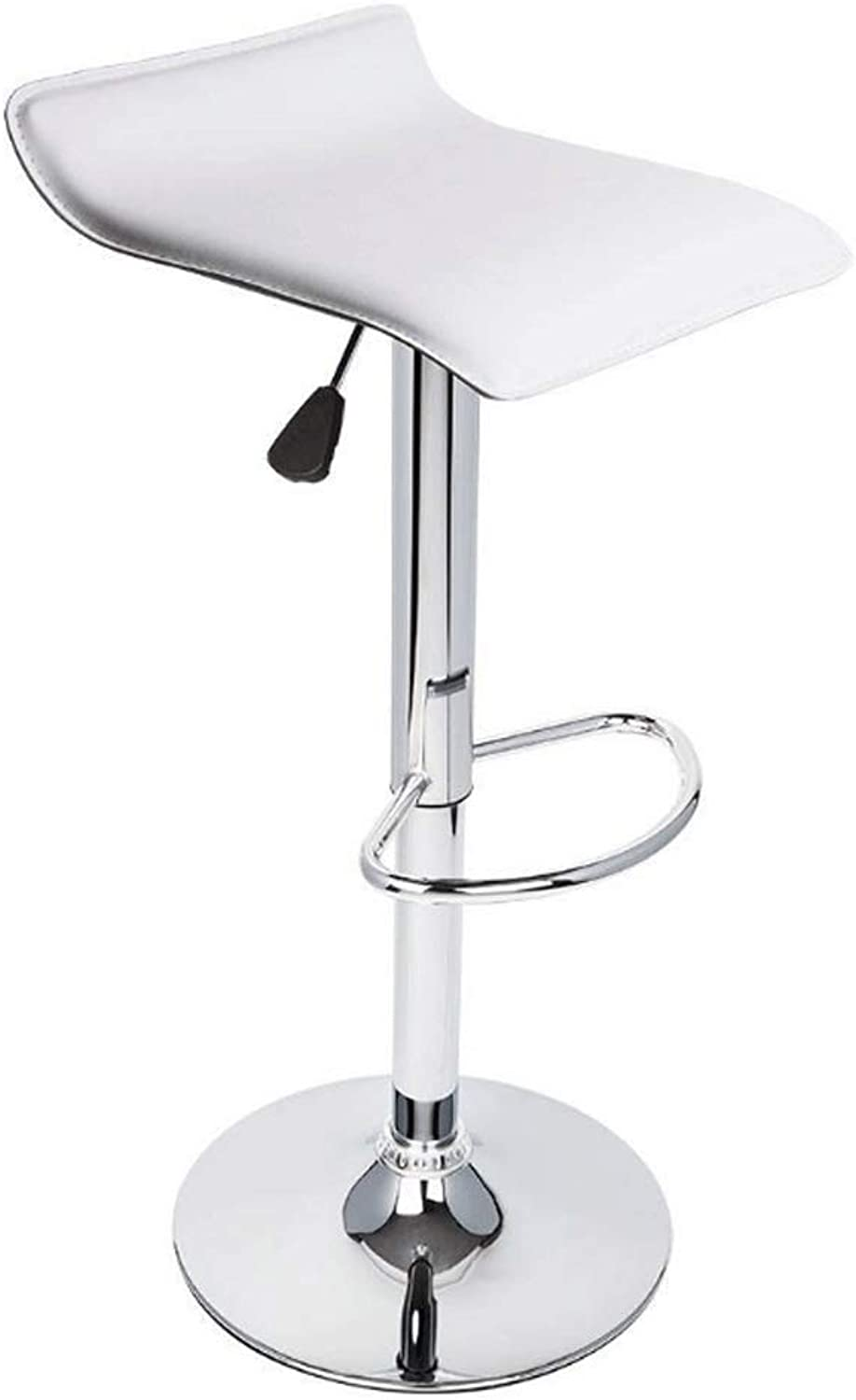 Lifting Bar Swivel Chair Lifting Adjustable Swivel Barstools, PU Leather with Chrome Base, Counter Height Hydraulic Pub Kitchen Counter Chairs (color   White)