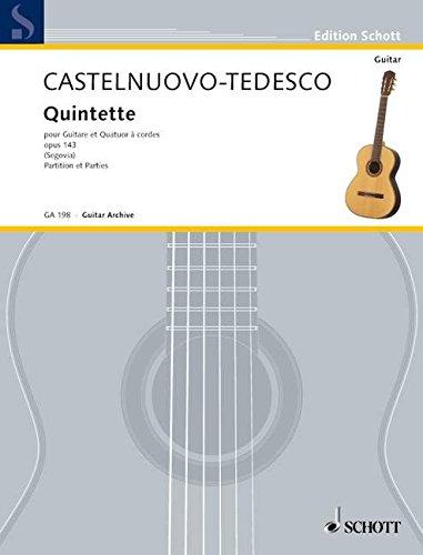 Quintette F-Dur: op. 143. Gitarre und Streichquartett. Stimmensatz. (Edition Schott)