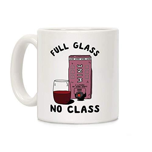 N\A Vaso Completo No Class Box Vino Blanco Taza de café de cerámica de 11 onzas