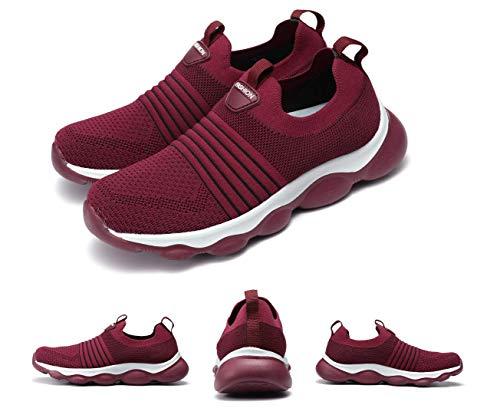 gracosy Sneakers per Donna Primavera Scarpe da Corsa Tessuto Maglia Comode Piattaforma Sportive Scarpe Traspirante Slip On Libero Formazione