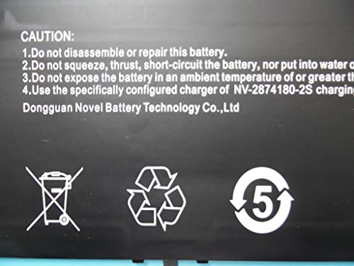 RTDpart Batteria per Ponticello EZBook X4 MB11 MB12 3 Plus NV-2874180-2S 7.6V 5000mAh 38Wh Nuovo e originale breve linea