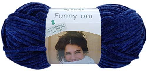 Gründl Funny - Hilo suave (100 g, 100% poliéster), color azul marino