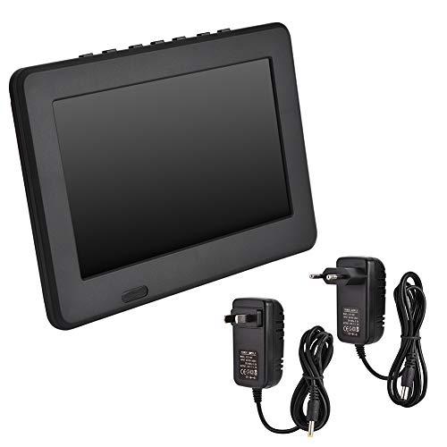 Zhiyavex Portable 7In Digital Color Tv,Rechargeable 16:9 1080P Led Digital Tv,Support MOV, AVI, WMV, MP4, FLV, MPEG1-4, MP3,for Indoor/Outdoor Entertainment.(U.S. regulations)