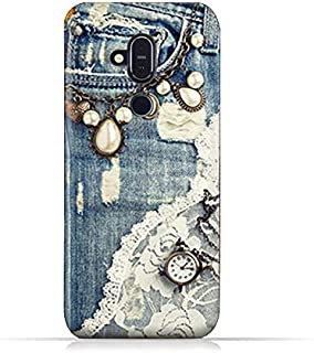 AMC Design Nokia 8.1 / Nokia X7 TPU Silicone Soft Protective Case with Modern Jeans Pattern
