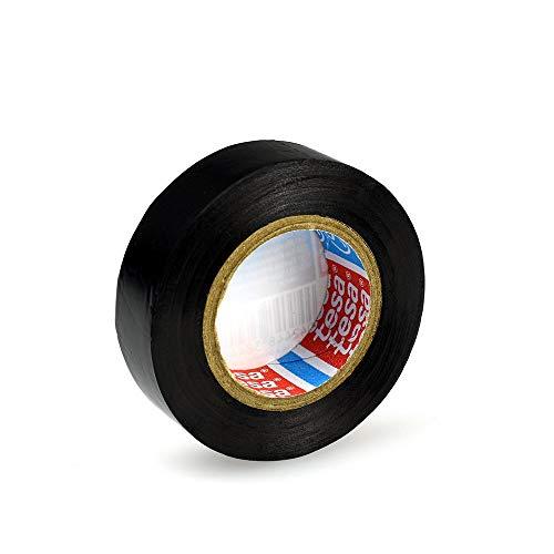 tesaflex 53948 PVC Isolierband Rolle (10m x 15mm), Farbe: schwarz, für Elektronik, Haushalt & Auto