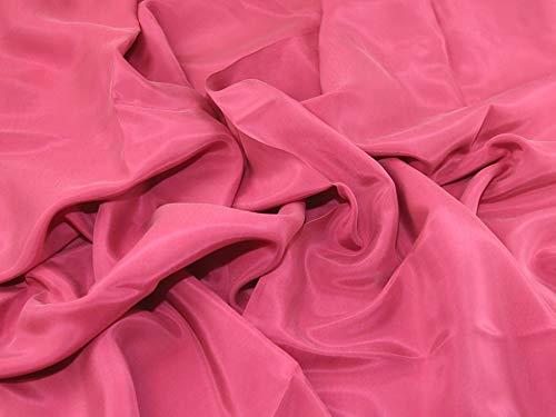 Lady McElroy Cupro Stoff, sandgewaschen, Meterware, Pink