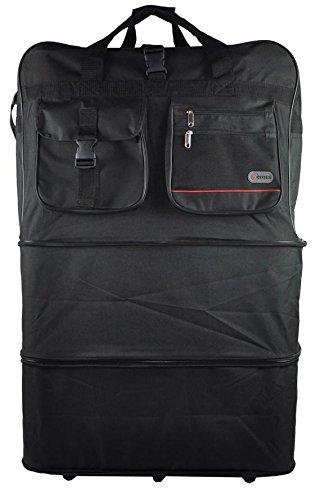 5 Cities® - Soporte para equipaje extensible (resistente y duradero), color negro