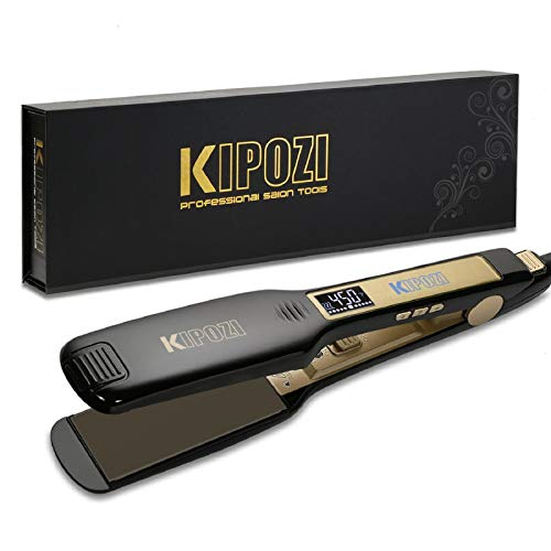 KIPOZI Professional Titanium Flat Iron Hair Straightener with...