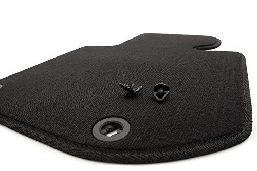 Tapis de sol en velours pour BMW Série 3 (E36) côté conducteur Qualité d'origine Noir