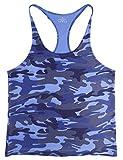 Muscle Alive Hombre Camisetas de Tirantes Entrenamiento Hombre Fitness Deportivo Gimnasio Tops Camisetas T-Shirts Chaleco