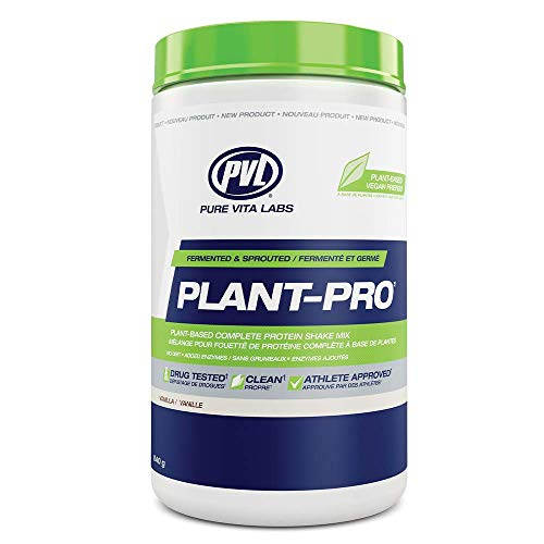 PVL Plant-Pro – High-Protein Plant-Based Fermented and Sprouted Vegan Protein Shake Mix with Added Enzymes – 840 g