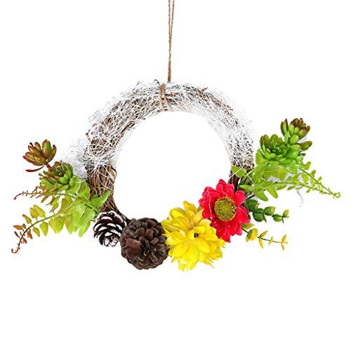 Lemoning Artificial Flowers, 20Cm Christmas Wreath Christmas Home Decoration Wedding Decoration Wreath