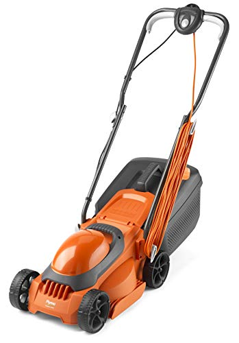 Flymo EasiMow 300R Electric Rotary Lawn Mower - 30 cm Cutting Width, 30 Litre Grass Box, Close Edge Cutting, Rear Roller, Manual Height Adjust, Comfortable to Manoeuvre, Foldable Handles, Lightweight
