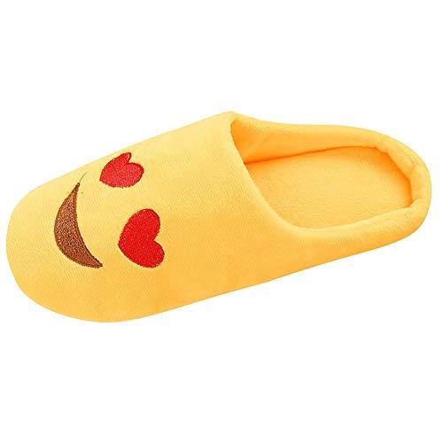 OHQ Zapatillas De Algodon Mujer Hombre Calzado Slipper Interior Antideslizante Invierno Casa Zapatos