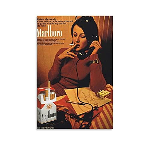 Impression sur toile publicités de cigarettes des années 70 50 x 75 cm