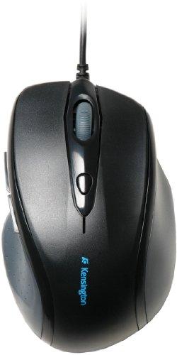 Kensington ProFit Maus, Kabelgebundene Full-Size-Maus mit ergonomischer Form für Rechtshänder, Plug & Play Betrieb, Kompatibel mit Windows & MacOS, schwarz, K72369EU
