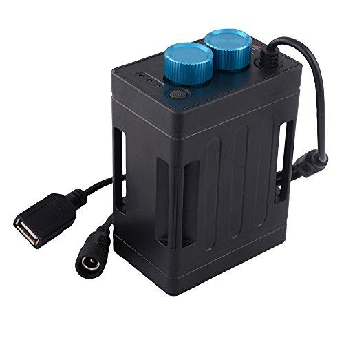 TrustFire EB03 8.4V Fahrrad Akku Aufbewahrungsbox Mobile Power Bank Akkupack Box Batterie Halter wasserdicht für 6 X 18650 Li-Ion-Akkus mit DC/USB-Schnittstelle für LED Taschenlampe Fahrradlampe