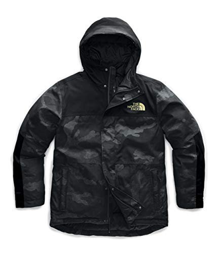 The North Face Men's Balham Insulated Jacket, TNF Black Waxed Camo Print/TNF Black/TNF Black Matte Gold, S