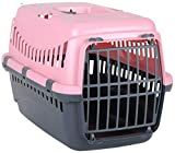 Coingallery Urban Living Pet Carrier Seatbelt Holder Carry Handle Small Animal Transporter Green Grey Pink (Pink)