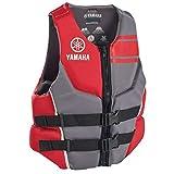 Yamaha Men's Neoprene Two-Buckle PFD Life Jacket Vest - (Red,Large)