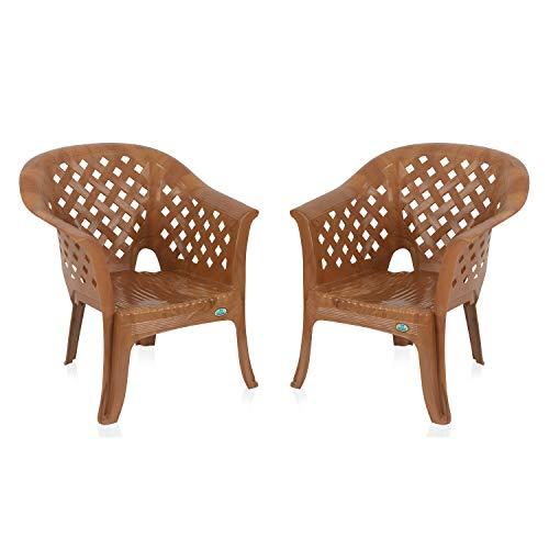 Nilkamal Set of 2 Solocane Chair, Pear Wood