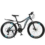 Bicicleta de montaña 27 velocidades Bicicleta antideslizante 26 pulgadas Neumático ARENA BICICLE DOBLE DISCO FRENO Suspensión Tenedor Suspensión Bicicleta para niños Chicas Hombres y mujeres,E