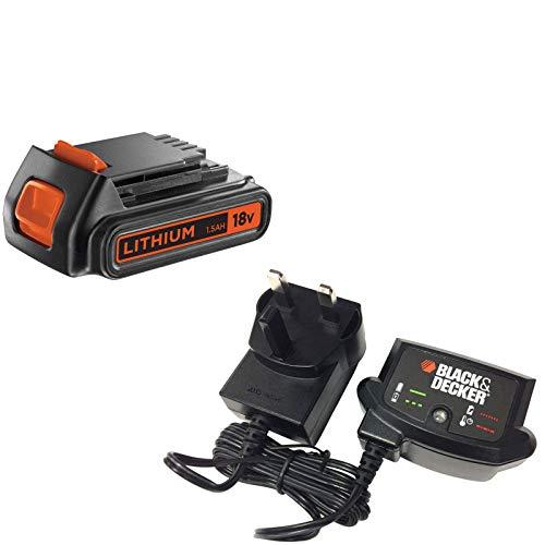 Black and Decker Genuine 18v Li-ion Battery and Charger Pack 1.5ah 240v