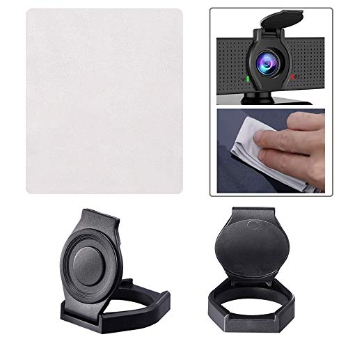 Webcam Lens Cover, 2 Pack Webcam Privacy Cover with Cleaning Cloth, Shutter Protects Lens Cap Hood Cover with Strong Adhesive, Protecting Privacy for Webcam C920 C930e C922 C922X Pro Stream Webcam