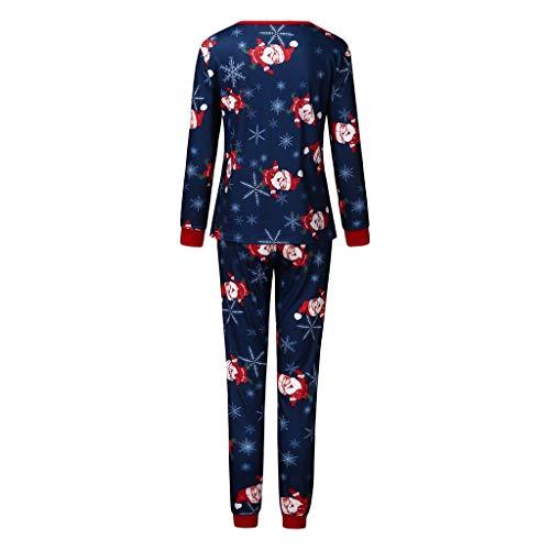 Hniunew Weihnachts Schlafanzug Jumpsuit Familie Festliche Pyjama Set Santa Claus Drucken FüLlen Gestrickte Sleepwear Outfit Set Christmas NachtwäSche KostüM FüR Mama Papa Kinder Baby