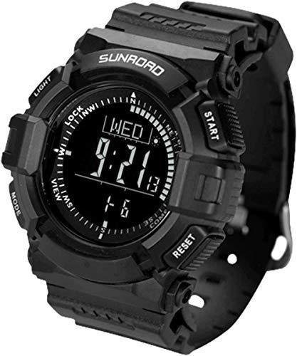 JSL Smartwatch - Reloj deportivo para hombre, 5 ATM, resistente al agua, digital, reloj militar, con cuenta regresiva, temporizador, alarma