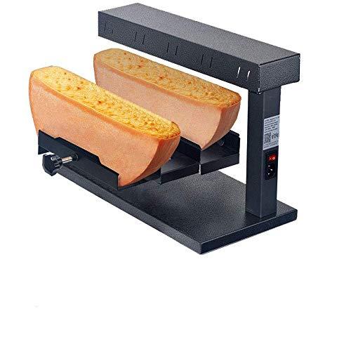 Raclette Cheese Melter Kommerzielle Elektrische Maschine FüR Halbes Nacho-KäSerad Multifunktions-Winkelverstellbarer Edelstahl 750 W Schnellheizung - Einzel- Oder Doppelscheibe
