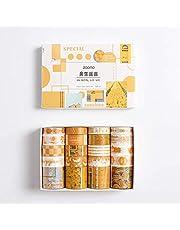 Chungeng Washi Tape - Cinta adhesiva decorativa para marcos de fotos, manualidades, rollo pequeño, 20 rollos