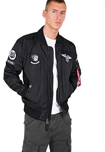 Alpha Industries - MA-1 TT Patch SF Herren Bomberjacke, Größe:L, Farben:Black