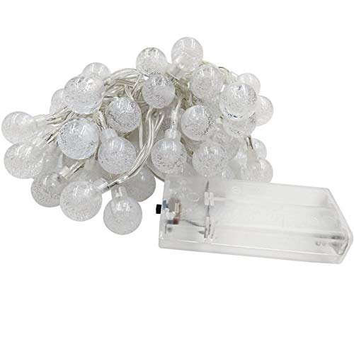 LED Bulbs Battery Powered Decorative for Bedroom Crystal Balls Fairy String Lights Great Garden Terrace Patio Outside Lights String Lights (Color : Pink)