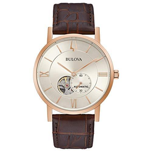 Bulova Reloj analógico para Hombre de Automático con Correa en Acero Inoxidable 97A150