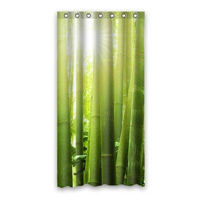 Dalliy Brauch Green bamboo Wasserdicht Polyester Shower curtain Duschvorhang 90cm x 183cm