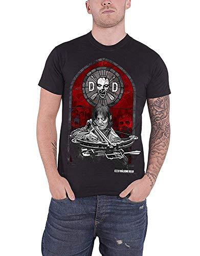 Das Herren Daryl Dixon Armbrust Glasmalerei T-Shirt