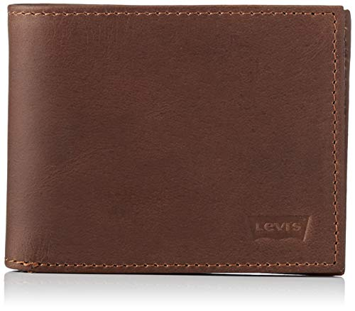 LEVIS FOOTWEAR AND ACCESSORIES Herren Levi's Casual Classics Hunte Bifold - B Geldbörse, Braun (Dark Brown), 2x11x8,5 centimeters