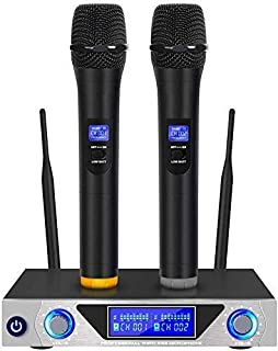 Handheld Professional Microphone, Wireless Microphone, KTV Microphone Wireless Microphone One for Two Microphone Set