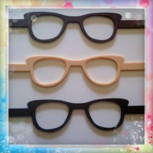 6 gafas de goma eva ideal para fofuchas o cualquier muñeca (Para bolas de 6-7-8 cm)