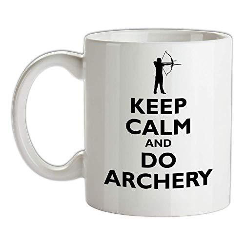 N\A Mantenga la Calma y Haga la Taza de Tiro con Arco - Arquero - Tiro - Juegos Olímpicos - Arco y Flecha