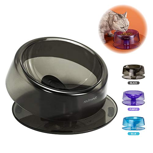 redminut Tilted Cat Food Bowls,Elevated Tilted Cat Bowls,0-22°Adjustable Tilted Raised Cat Food Bowls,Non Slip Feeding Dishes for Cats and Small Dogs,Stress Free Reliefs Whisker Fatigue (Black)